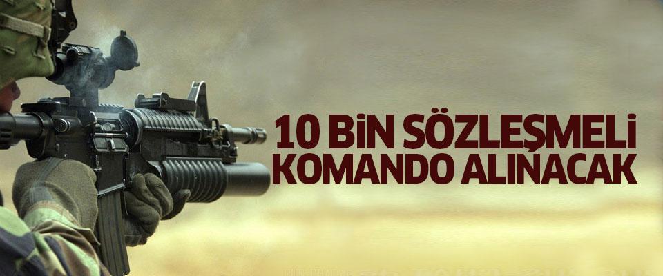 10 bin Sözleşmeli Komando Alınacak