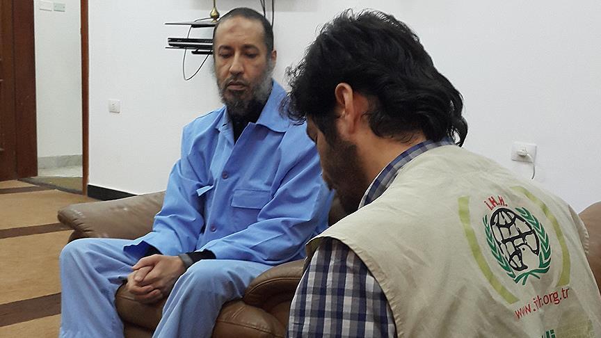 İHH Heyeti Libya'da Kadafi'nin Oğlu ile Görüştü