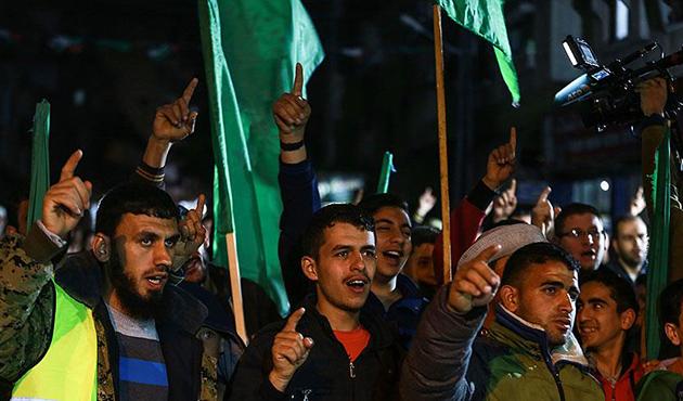 Gazze'de Trump'a 'Hamas' Protestosu
