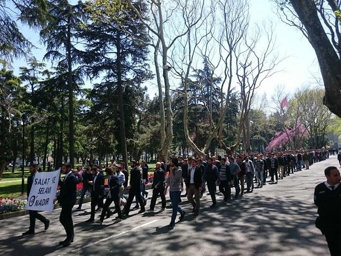 İstanbul Üniversitesi'nde 'Kutlu Doğum' Yürüyüşü