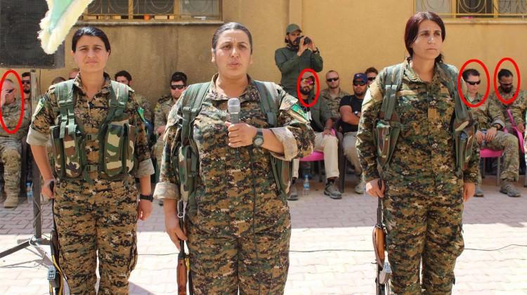 ABD Askerleri YPG'lilerin Yemin Törenine Katıldı!