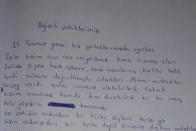 Amed'li Öğrencilerden Hüzünlendiren Mektup