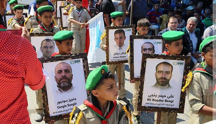 Mavi Marmara Şehitleri Gazze'de Anıldı (Foto)
