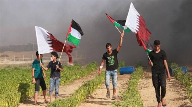 Gazze'den 'Katar'a  Destek
