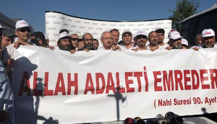 Gezici  Anti Kapitalist Müslümanlar  Sözde Adalet Yürüyüşü'nde