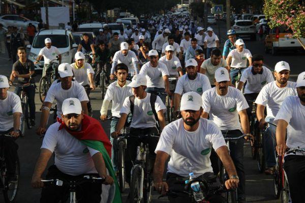 HÜDA PAR Gençlik Kolları 'Kudüs' için Pedal Çevirdi