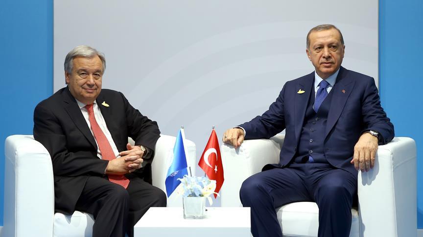 Cumhurbaşkanı Erdoğan, Guterres ile Arakan'ı Görüştü