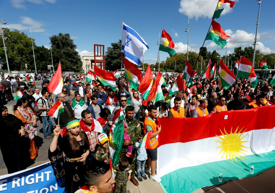 Kürdistan Mitinginde Siyonizm Bayrağı !