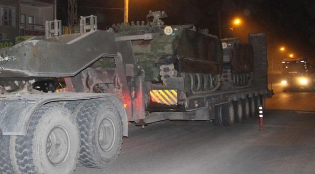 Sınır Birliklerine Tank Sevkiyatı Yapıldı