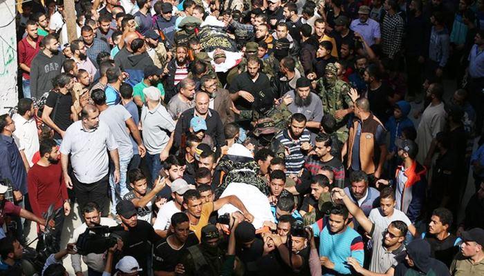 Filistin Halkı Şehitlerini Uğurladı