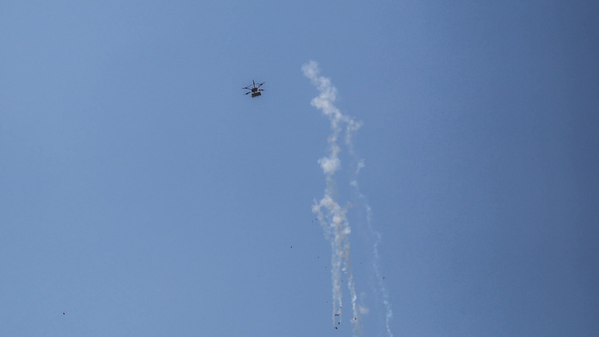 İsrail'in İHAS'I Bomba Yağdırıyor