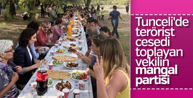 HDP'liler  Mangal Partisi Yaptı