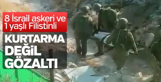 Yaşlı Adamı Sedyeyle Gözaltına Aldılar (Video)