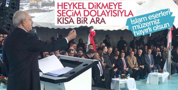CHP  Heykel Dikmeye Kısa Bir Ara Verdi