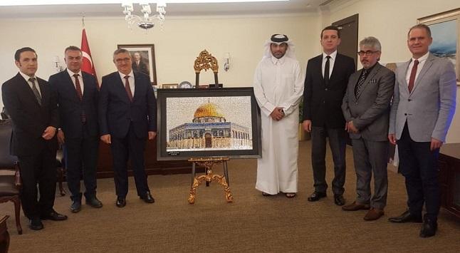 Katarlı Sanatçı'dan Erdoğan'a Hediye