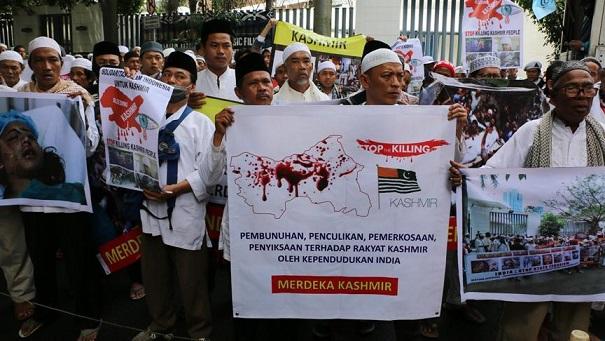 Endonezya'da Hindistan Protestosu