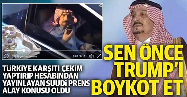 Suudi Arabistan Prensi, Türkiye'yi Boykot Çağrısında Bulundu
