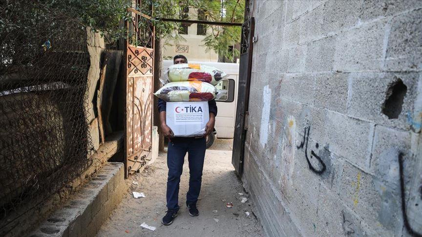 TİKA'dan  Gazze'deki 1100 Aileye Yardım