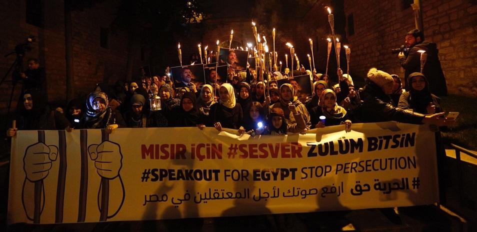 """""""Mısır İçin Ses Ver"""" Yürüyüşü Düzenlendi"""