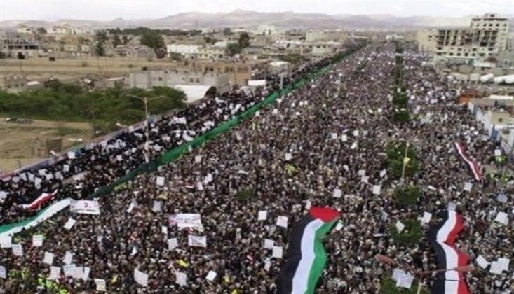 Yemen Halkı Filistin İçin Sokaklarda