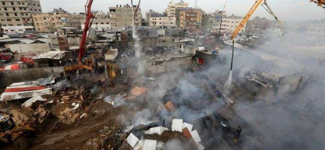 Gazze'deki Yangın'da Ölü Sayısı 15'e Çıktı