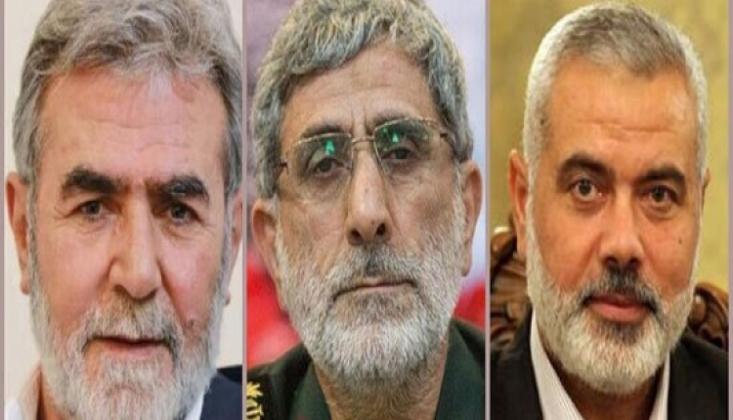 Devrim Muhafızları Komutanı İslami Cihad ve Hamas Liderleri İle Görüştü