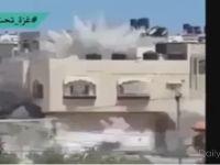 İsrail Gazze'de Evleri Böyle Bombalıyor-VİDEO