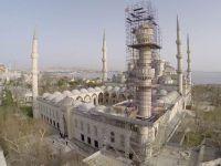 Sultanahmet Cami'sinin Bir Minaresinde Kayma Var
