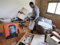 Barbar Siyonistler Filistinli  Karikatüristin Atölyesini Dağattı