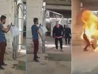 Yunanistan'da Suriyeli Mülteci Kendini Yaktı