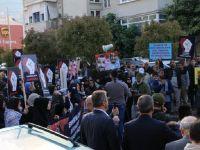 Suud Konsolosluğu Önünde Protesto Gösterisi