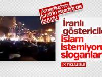 İran'da  Göstericiler İslam'a Hakaret Etti (VİDEO)