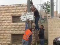 Kudüs'te  Tabelalar Asılmaya Başlandı