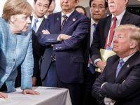 Trump Merkel'e Şeker Fırlatmış