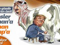 Trump Suud'u Böyle Sağıyor