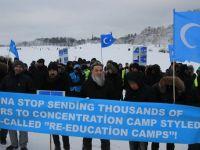 """İsveç'te """"Doğu Türkistan İçin Direniş, İnsanlık İçin Diriliş"""" Eylemi"""