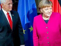 Pence-Merkel Görüşmesinde İran Tartışması