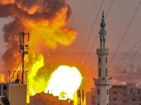 Siyonistler Gazze'yi Vurdu