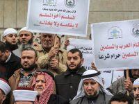 Gazze'de Uygur Müslümanlarına Destek Gösterisi