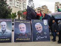 Gazze'de Kasım Süleymani İçin Taziye Çadırı Kuruldu (Fotoğraf)