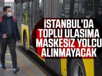 İstanbul'da Ulaşımda  Maske Zorunluluğu