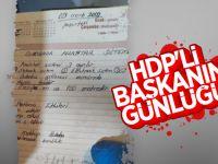 HDP'li Başkanın Ajandasından Bomba Tarifi Çıktı