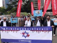 İstanbul'da İsrail Protestosu