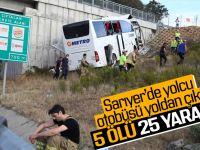 Kuzey Marmara Otoyolunda Yolcu Otobüsü Yoldan Çıktı