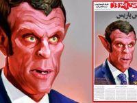 İran'da Macron Karikatürü