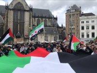 Hollanda'da Filistin için Gösterisi