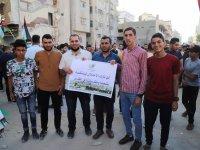 Gazze'de Korsan Yürüyüş Protesto Edildi (FOTO)